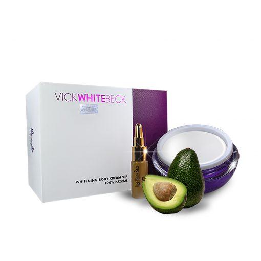 Bộ Kem Dưỡng Trắng Body + Serum Khóa Trắng Vick White Beck 3