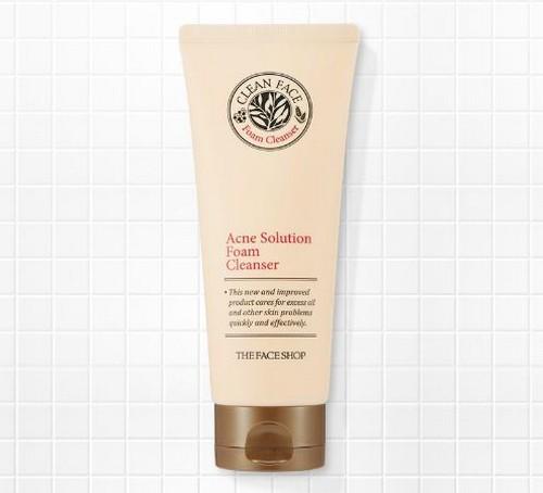 Sữa Rửa Mặt The Faceshop Clean Face Acne Solution Foam Cleansing