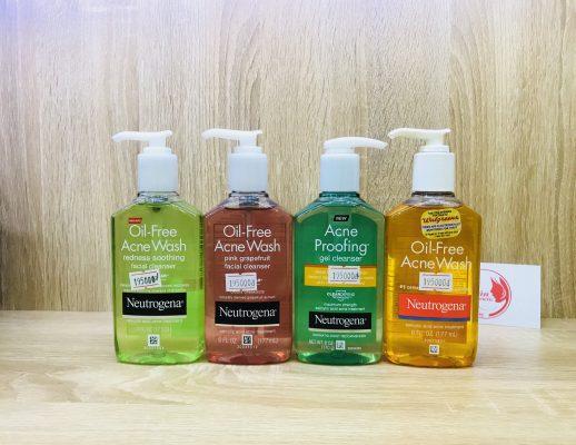 Sữa Rửa Mặt Trị Mụn Neutrogena Oil-free Acne Wash 177ml 1