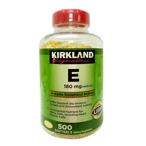 Viên Uống Vitamin E 400 I.U Kirkland Signature Mỹ 500 Viên