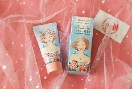 Kem Chống Nắng Seoul Rose Rosie First Essence Whitening Serum Sunscreen SPF45 PA+++ 3