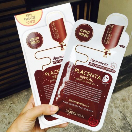 Mặt Nạ Nhau Thai Cừu Mediheal Placenta Revital Essential Mask Ex 4