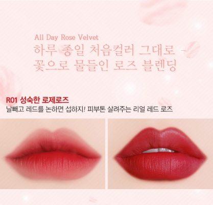 black rouge rose velvet lipstick r1