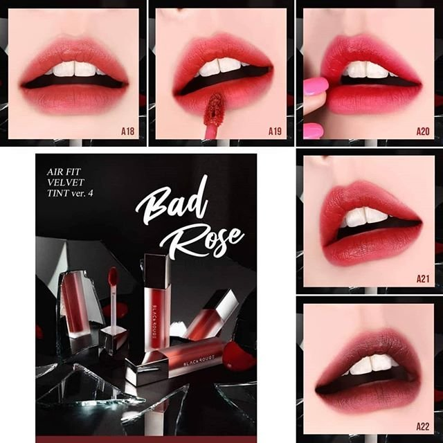 [NEW COLLECTION] Son Kem Lì Black Rouge Air Fit Velvet Tint Ver 4: Bad Rose X Bad Girl 4