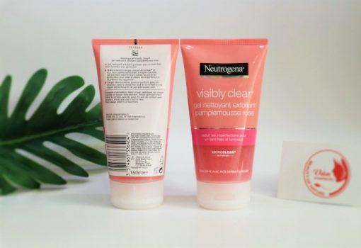 Sữa Rửa Mặt Neutrogena Visibly Clear Gel Nettoyant Exfoliant Pamplemousse Rose SALE 3