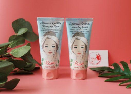 Sữa Rửa Mặt Seoul Rose Rosa Skincure Centella Cleansing Foam 3