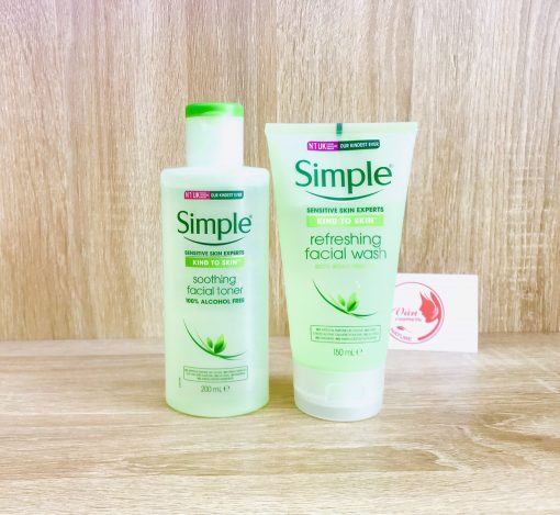 [Combo Tiết Kiệm] Sữa Rửa Mặt Simple 150ml + Nước Hoa Hồng Simple 200ml 3