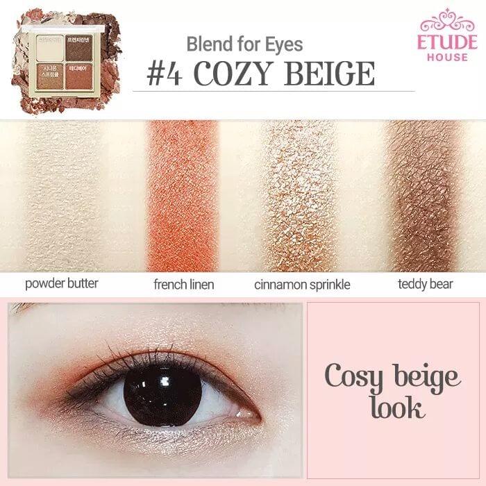 Phấn Mắt Etude Blend For Eyes 4 Ô 7