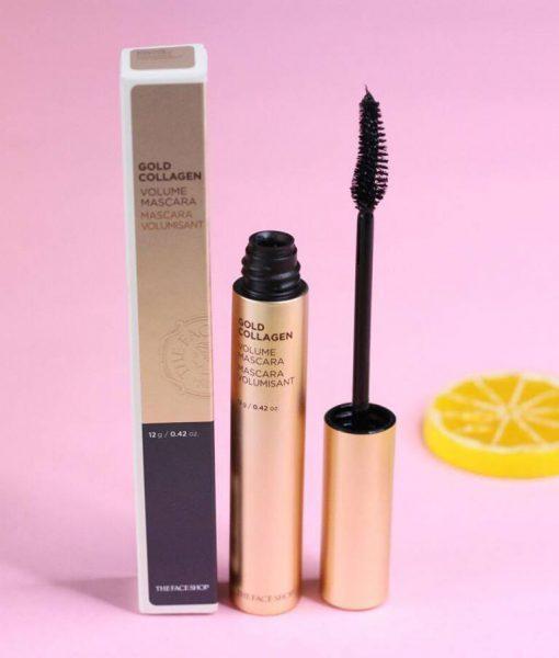 Mascara The Face Shop Gold Collagen Volume 3