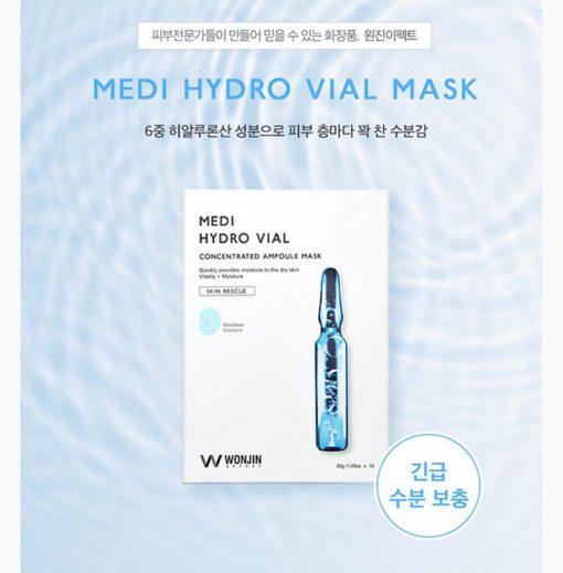 Mặt Nạ Cho Da Nhạy Cảm Wonjin Effect Medi Hydro Vial Mask 3