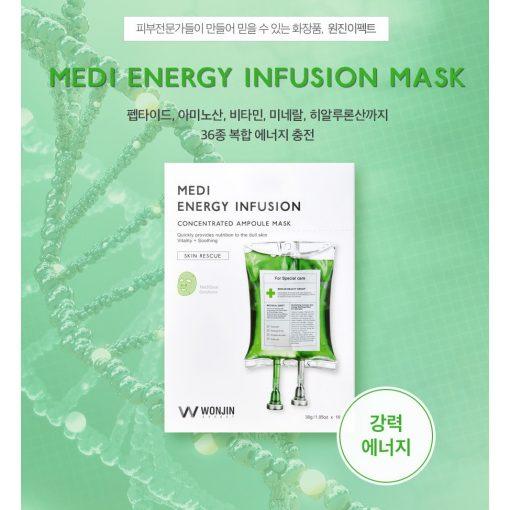 Mặt Nạ Cho Da Nhạy Cảm Wonjin Effect Medi Energy Infusion Mask 3