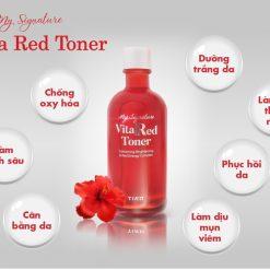 Nước Hoa Hồng Dưỡng Trắng, Se Khít Lỗ Chân Lông Tiam My Signature Vita Red Toner 130ml 7