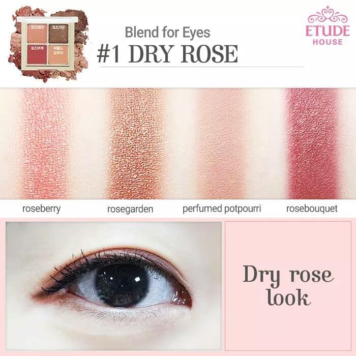 Phấn Mắt Etude Blend For Eyes 4 Ô 4