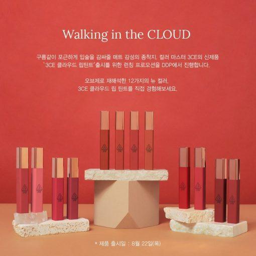 """[Siêu Phẩm 2019] Son Kem Lì """"Siêu Hot"""" 3CE Stylenanda Cloud Lip Tint 3"""