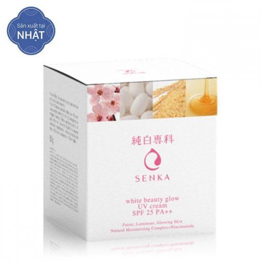 Kem Dưỡng Trắng Da Ban Ngày Senka White Beauty Glow UV Cream SPF 25 PA++ (50g) 3