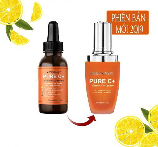 Tinh Chất Dưỡng Trắng Da, Mờ Thâm MediskinbyC Pure C+ Vitamin C Ampoule 30ml [Phiên Bản Mới 2019] 4