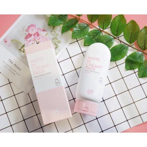 Kem Ủ Dưỡng Trắng Body G9 Skin White In Creamy Pack 200ml 3