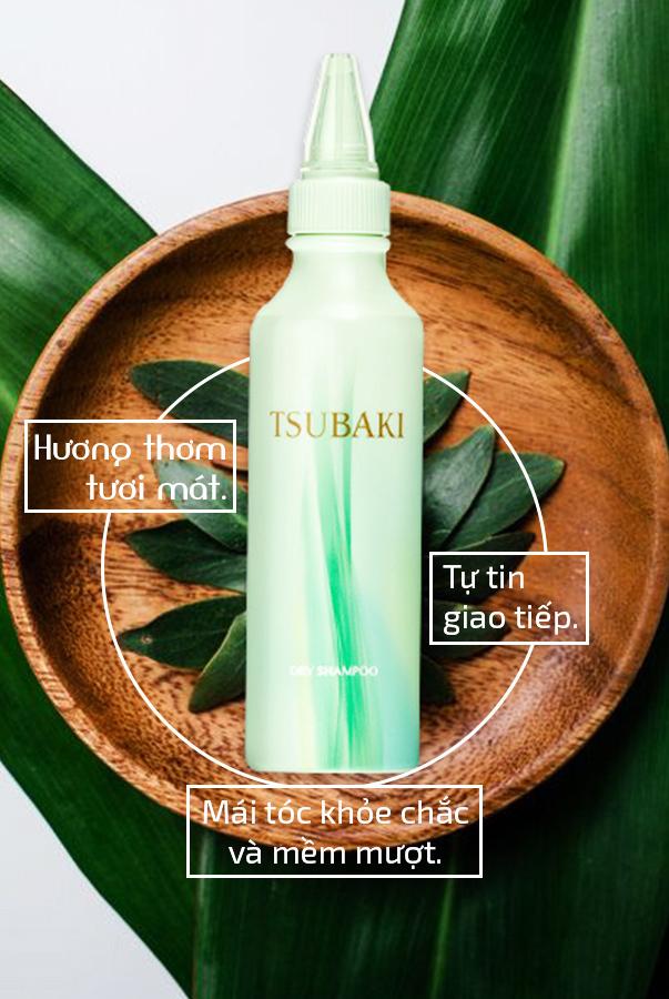 Dầu Gội Khô Tsubaki Dry Shampoo (180ml)