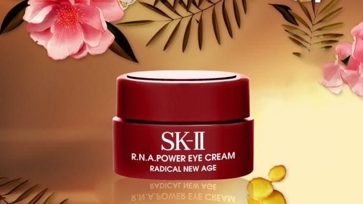 Kem Dưỡng Da Trị Thâm Vùng Mắt Mini SK-II R.N.A Power Eye Cream Radical New Age 2.5g 10