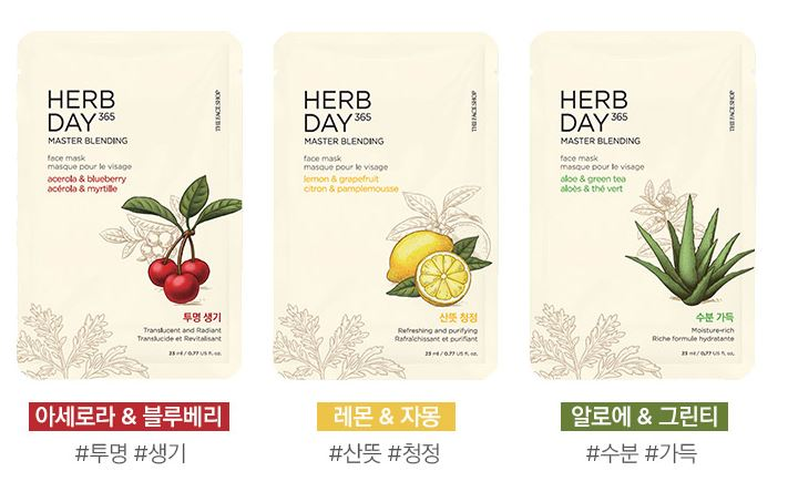 Mặt Nạ The Face Shop Herb Day 365 Master Blending Face Mask 5
