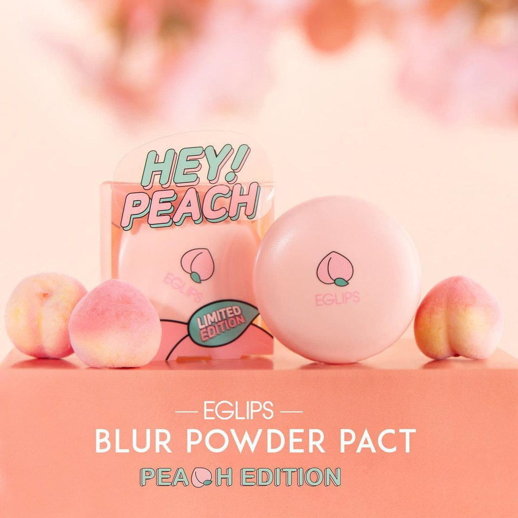 Phấn Phủ Eglips Hey Peach Blur Powder Pact Limited Edition (9g) 8