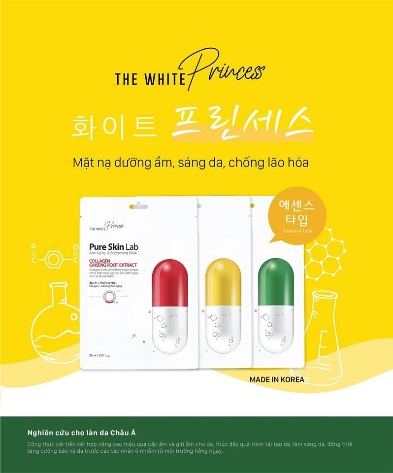 Mặt Nạ The White Princess Pure Skin Lab (25ml) 11
