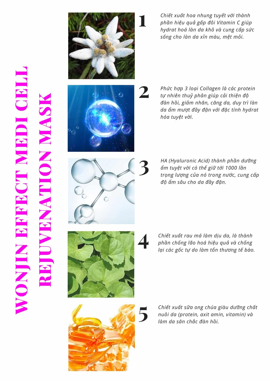 Mặt Nạ Trẻ Hóa Da Wonjin Effect Medi Cell Rejuvenation Mask 1